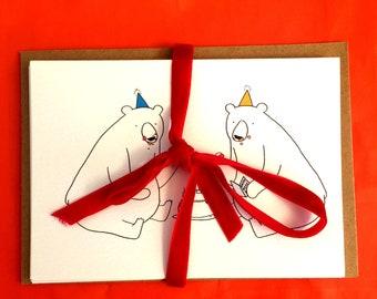 Birthday Bear Cards Pack