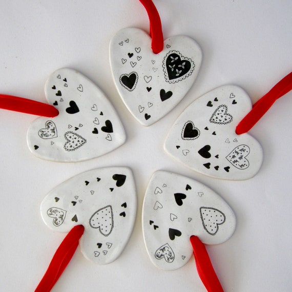 Ceramic Heart Decorations