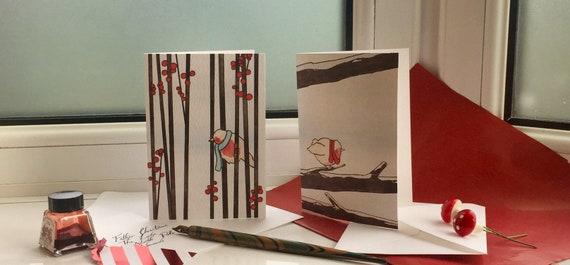 Little Birds Christmas Cards