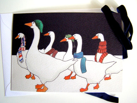 Christmas Goose Card