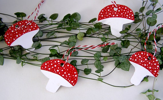Mushroom Decoration Tags