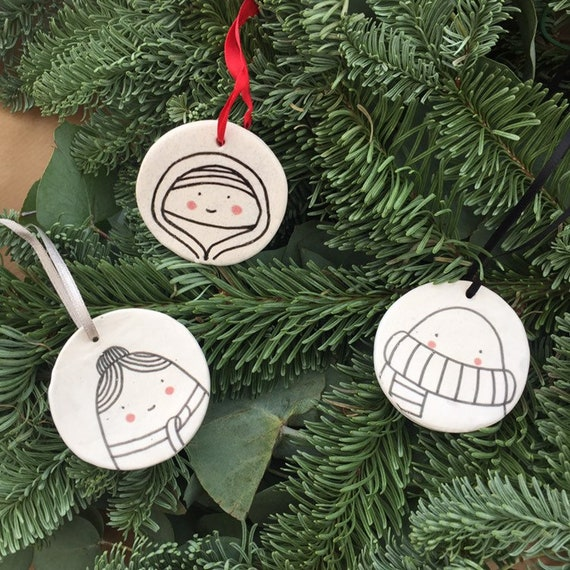 Hyggefolk Christmas Tree Ceramic Ornaments