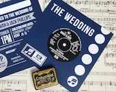 Wedding/ Party Invitations - Vinyl Record Inspired Design