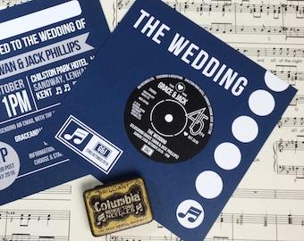 wedding party invitations vinyl record design x 40