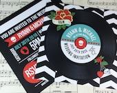 Wedding/ Party Invitations - Rock N Roll Vinyl Record Design