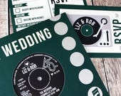 Wedding/ Party Invitations - REAL Vintage Vinyl Record Design