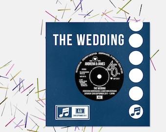 Wedding/ Party Invitations - Vinyl Record Inspired Design