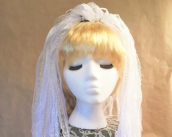 """Ribbon 'Dread' Pair Hair Falls 20"""" White"""