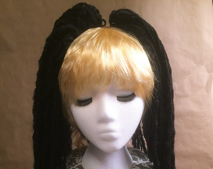 "Yarn 'Dread' Pair (2) Hair Falls 20"" Black"