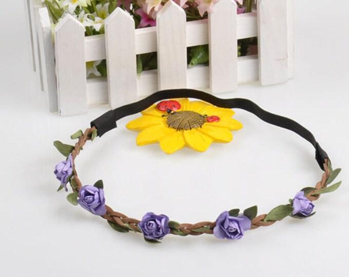 Fairy Flower Headband in Purple