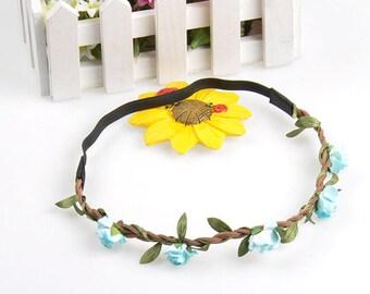 Fairy Flower Headband in Blue