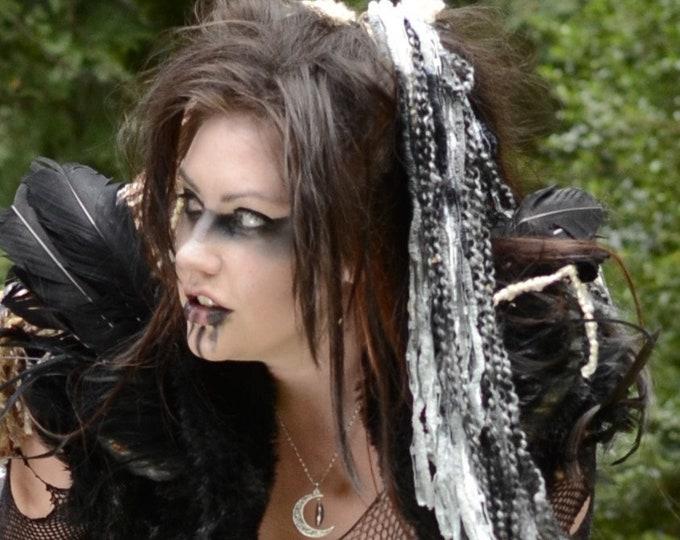 """Yarn 'Dread' Pair (2) Hair Falls 20"""" Gray"""