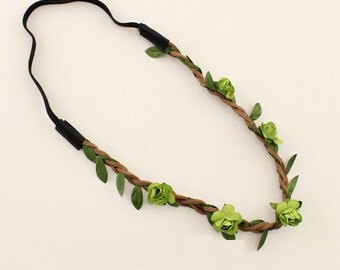 Fairy Flower Headband in Green
