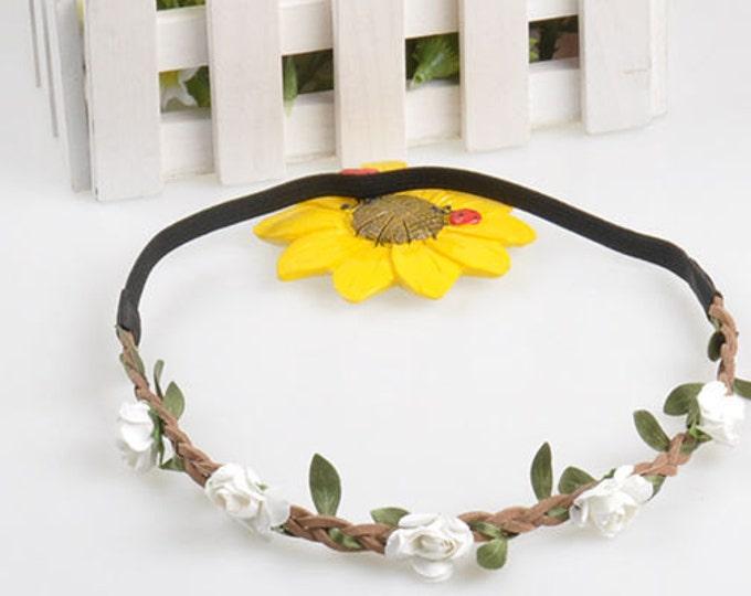 Fairy Flower Headband in White