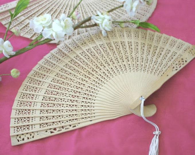 Carved Sandalwood Folding Hand Fan