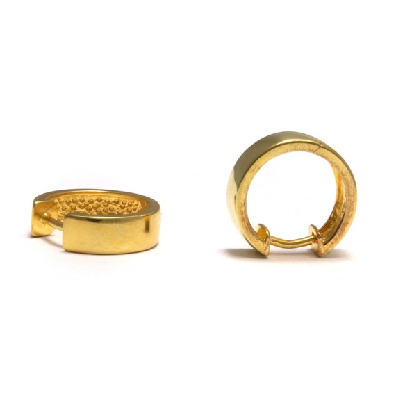 18K Gold Filled Ancient Royal Huggie Earrings E-377