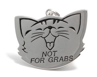This pussy is not for grabs pendant in 925 sterling silver