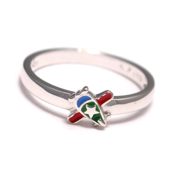 Jewelry Pilot Sterling Silver Red Enamel Ladybugs Childs Bracelet