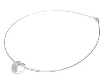 925 sterling silver necklace with real brilliant
