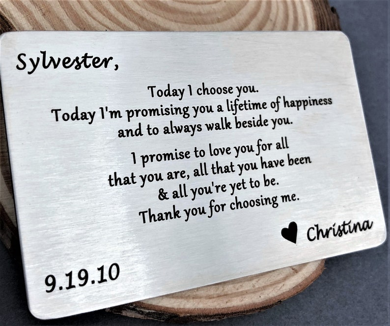 Personalized Love Note For Him With Names And Date