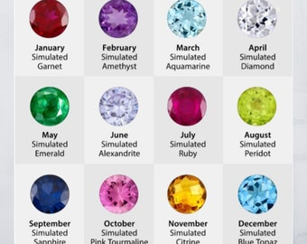 Additional Birthstone to add to a purchased item. NOT for individual sale.