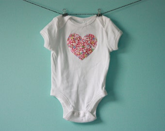 Heart Applique Onesie