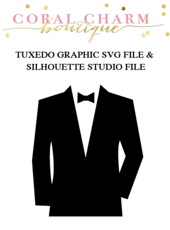 tuxedo design file for cutting machines svg and silhouette etsy