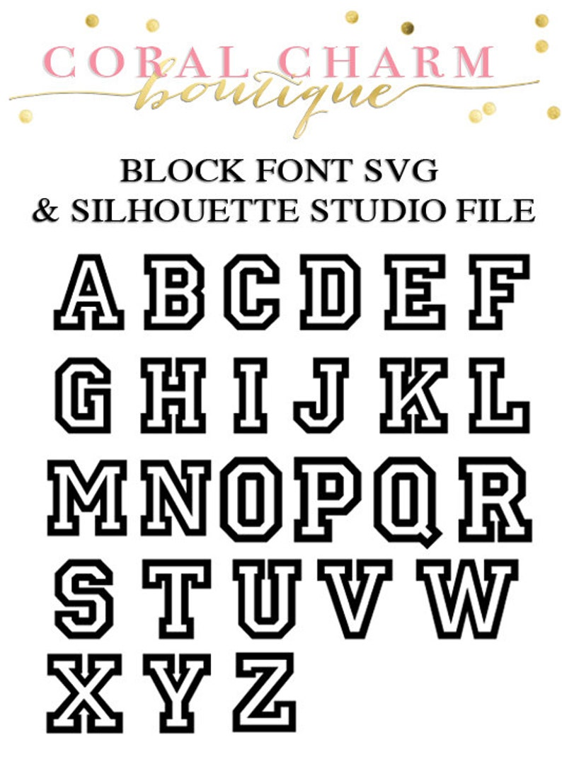 Varsity Block Font Files for Cutting Machines | SVG and Silhouette Studio