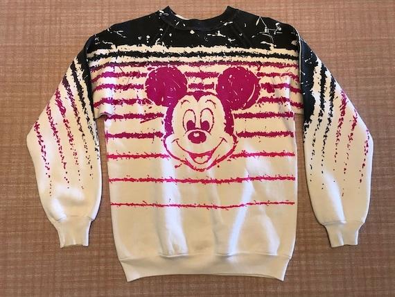 Vtg 1980s mickey mouse art sweatshirt medium walt