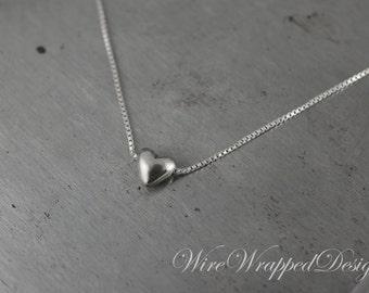 50 Silver-Plated Teeny Tiny 3D Heart Drops 8x6mm