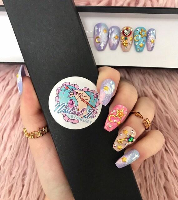 Nailed It Hand Painted False Nails Sailor Moon