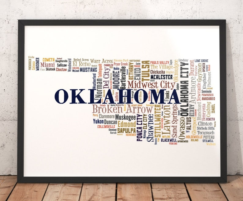 Oklahoma Map Art, Oklahoma Art Print, Oklahoma State Map, Oklahoma on oklahoma map with all cities, political map oklahoma cities, map of oklahoma city and surrounding cities, printable oklahoma map cities, texas-oklahoma map with cities, arkansas county map with cities, oklahoma-texas map showing cities, tulsa oklahoma map cities, oklahoma state major cities, oklahoma state road maps and cities, ardmore shooting, ardmore woodford shale, ardmore ok,