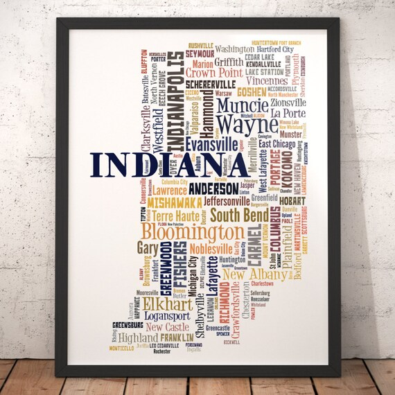 Indiana Map Art Indiana Art Print Indiana State Map Indiana | Etsy on map of germantown indiana, map of mt vernon indiana, map of decatur township indiana, map of ellettsville indiana, map of patriot indiana, map of brownsburg indiana, map of kirklin indiana, map of avilla indiana, map of burlington indiana, map of arcadia indiana, map of wakarusa indiana, map of oldenburg indiana, map of williamsburg indiana, map of la crosse indiana, map of crothersville indiana, map of amo indiana, map of summitville indiana, map of monroe indiana, map of boston indiana, map of carlinville indiana,