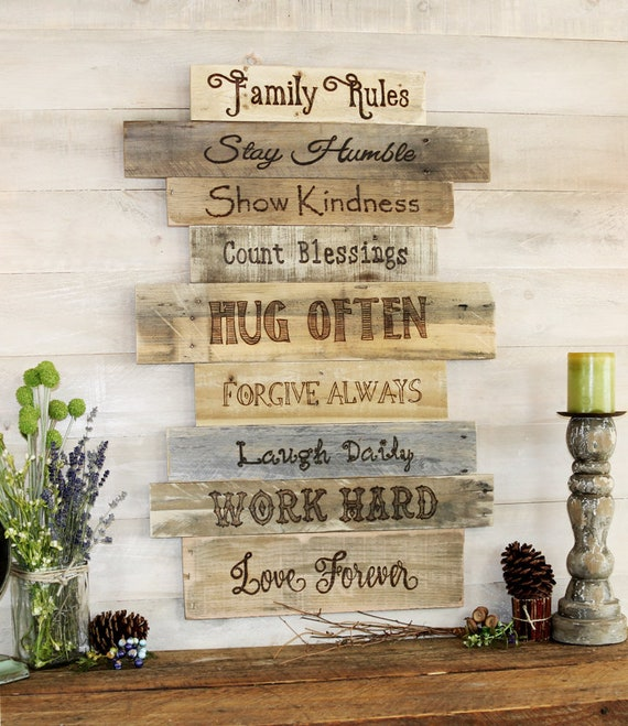 Family/family Rules Sign/wood Sign/wall Decor/farmhouse