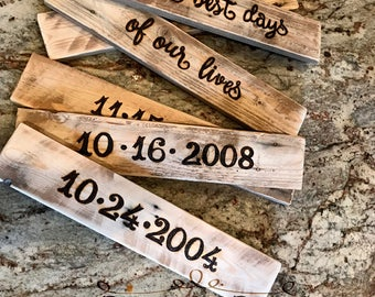 Additional Customized Date/Personalized Family Sign/Family Dates Sign/The Best Days Of Our Lives Sign/Customized/Wood Sign/Rustic Decor