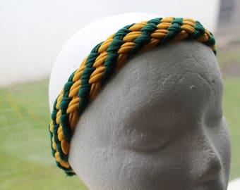 Braided Cotton T-Shirt Headband (George Mason, FSU, College Colors)