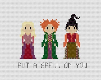 Sanderson Sisters Various Quotes Cross Stitch Pattern - 3 Quote Variations
