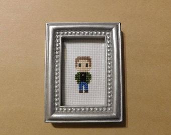 Supernatural Dean Framed Cross Sitch