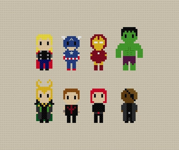 Avengers Cross Stitch Pattern