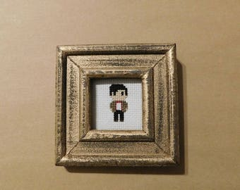 Doctor Who 11th Doctor Framed Cross Sitch