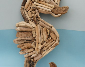 Handmade Cornish Driftwood Seahorse - Made to Order