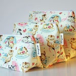 Cute Retro Vintage Style Kittens Make-up and Wash Bags. Gift for Ladies