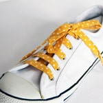Yellow Polka Dot Cotton Shoelaces. Different Colours available