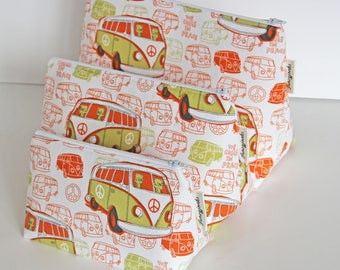 Retro Alien Camper Van Make-up and Wash Bag. Great Gift for all Ages