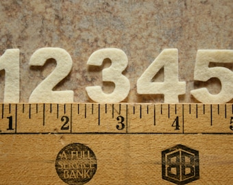 "Wool Felt Advent Calendar Numbers 1 to 24 • 1"" height"
