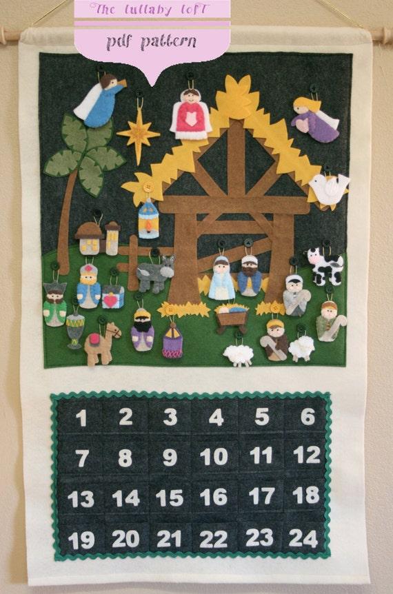 Nativity Advent Calendar Pattern Instant Digital Download Etsy