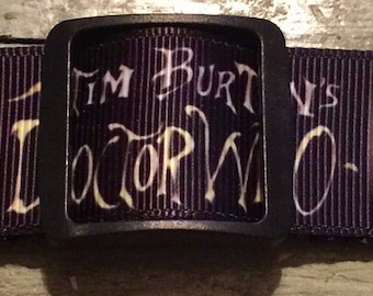"""Dog Collar """" Dr. Who * Rock and Roll *  * 1"""" adjustable buckle or martingale"""