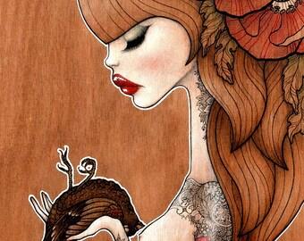 "Print of my original illustration ""Marianne"""