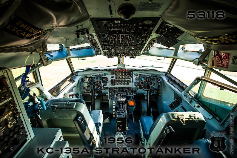 On Canvas: Military Photography USAF Cockpit view of a 1956 image 1