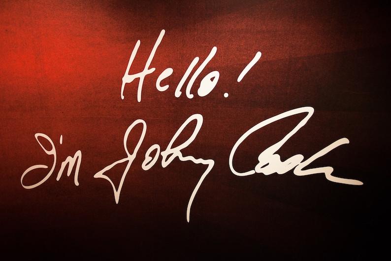 Hello I'm Johnny Cash photo photography art print image 1